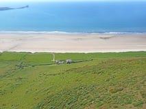 Rhossili Beach, Wales. Farmhouse by Rhossili beach, Wales Royalty Free Stock Photos