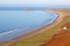 Rhossili Beach, Wales Royalty Free Stock Photography