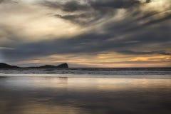 Rhossili-Buchtwolken Lizenzfreies Stockfoto