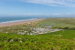 Rhossili coast The Gower South Wales UK in summer Stock Image