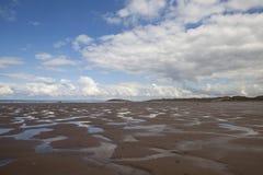 Rhossili plaża, Gower Peninsular obraz royalty free