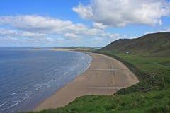 Rhossili strand, Wales Arkivfoton