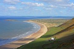 Rhossili strand, Wales Royaltyfri Bild
