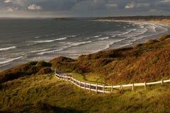 Rhossili zatoki południowe walie Obraz Royalty Free