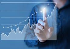 Rührendes Diagramm des Geschäftsmannes Lizenzfreie Stockfotografie