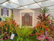 RHS Chelsea Flower Show 2017. A Barbados Horticultural Society display at the Great Pavilion. RHS Chelsea Flower Show 2017. A Barbados Horticultural Society ` Stock Image