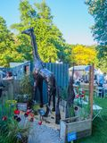 RHS Chelsea Flower Show 2017. A beautiful artisan gardens display for the show. RHS Chelsea Flower Show 2017. View of a beautiful artisan gardens display for Stock Photo