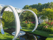 RHS Chelsea Flower Show 2017. The Breast Cancer Now Garden: Through the Microscope. LONDON, UK - MAY 25, 2017: RHS Chelsea Flower Show 2017. The Breast Cancer Stock Photography
