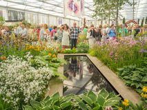 RHS Chelsea Flower Show 2017 De wereld` s meest prestigieuze bloem toont het tonen van het beste in tuinontwerp Stock Afbeeldingen