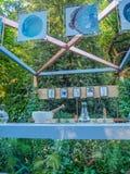 RHS Chelsea Flower Show 2017 Een mooie artisanale tuinenvertoning voor de show royalty-vrije stock foto's