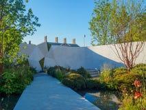 RHS Chelsea Flower Show 2017 Jeremy Vine Texture Garden Arkivbilder