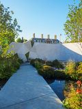 RHS Chelsea Flower Show 2017. The Jeremy Vine Texture Garden. LONDON, UK - MAY 25, 2017: RHS Chelsea Flower Show 2017. The Jeremy Vine Texture Garden. Smooth Stock Photo
