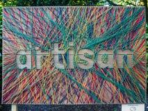RHS Chelsea Flower Show 2017 L'artisan coloré fait du jardinage comprimé Image libre de droits