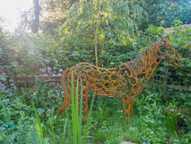 RHS Chelsea Flower Show 2017 Le jardin d'assistance sociale de cheval du monde Image stock