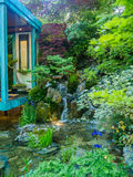 RHS Chelsea Flower Show 2017. No Wall, No War. Gold Medal winning Artisan Garden by Japanese master Kazuyki Ishihara. LONDON, UK - MAY 25, 2017: RHS Chelsea Royalty Free Stock Photos