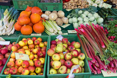 Rhubarb, apples and more Stock Photo