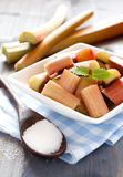 Rhubarb in a bowl Stock Image