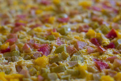 Rhubarb cake Stock Photography