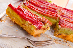 Rhubarb cake Royalty Free Stock Photos
