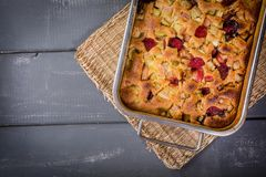 Rhubarb cake from the oven royalty free stock images