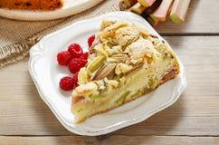 Rhubarb cake Stock Photos