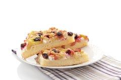 Rhubarb cake. Stock Photos