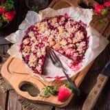 Rhubarb chocolate tarte Royalty Free Stock Image
