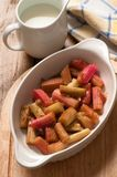 Rhubarb & Cream Royalty Free Stock Image