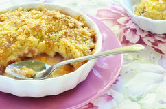 Rhubarb crumble Royalty Free Stock Photo