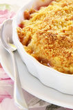 Rhubarb crumble Stock Images