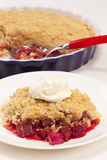Rhubarb Crumble with Raspberry Stock Images