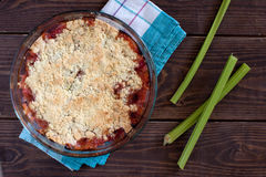 Rhubarb crumble Royalty Free Stock Photos