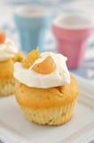 Rhubarb Cupcakes Stock Photos