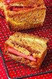 Rhubarb and custard cakes Stock Photos