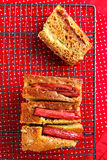 Rhubarb and custard cakes Royalty Free Stock Photos