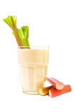 Rhubarb drink Royalty Free Stock Images