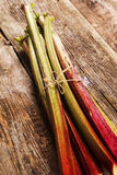 Rhubarb. Food. Delicious garden rhubarb on the table Stock Image