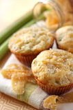 Rhubarb and ginger muffins Royalty Free Stock Photo