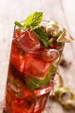 Rhubarb ice tea Royalty Free Stock Photo