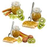 Rhubarb jam Royalty Free Stock Image