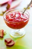 Rhubarb jam Stock Image