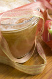 Rhubarb jam in glass jar Stock Images