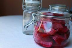 Rhubarb jar Stock Photo