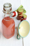 Rhubarb juice Royalty Free Stock Photography