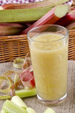 Rhubarb juice in a glass Royalty Free Stock Image
