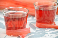 Rhubarb juice in a glass Royalty Free Stock Photography