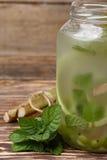 Rhubarb lemonade stock photo