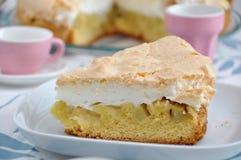 Rhubarb meringue pie Stock Image