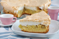 Rhubarb meringue pie Royalty Free Stock Image