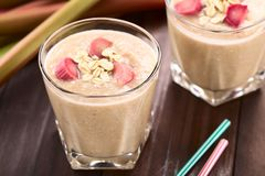 Rhubarb and Oatmeal Smoothie Royalty Free Stock Photography
